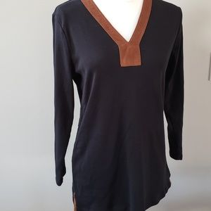 LAUREN Ralph Lauren Green label Tunic faux suede